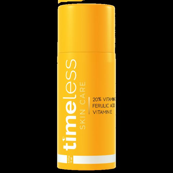 Сыворотка 20% витамином С, витамином Е и феруловой кислотой Timeless Skin Care, 30 мл картинка
